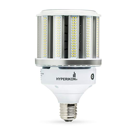 Hyperikon LED Corn Bulb Street Light 80W (HIP/HID Replacement) 10400 Lumen, Large Mogul E39 Base, 5000K Outdoor Indoor Area Lighting, IP64 Waterproof, UL