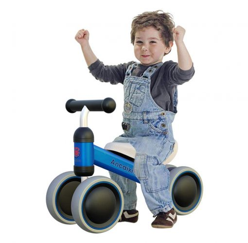 Ancaixin Baby Balance Bikes Bicycle Children Walker 10 Month -24 Months Toys for 1-Year-Old No Pedal Infant 4 Wheels Toddler First Birthday New Year Gift