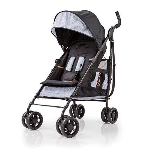 Summer Infant 3Dtote Convenience Stroller, Orange & Heather Gray