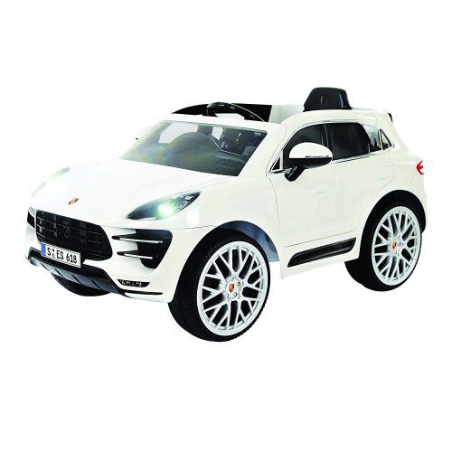 Rollplay 6V Porsche Macan Kids Ride-On Car - For Boys & Girls Ages 3 & Up - Battery-Powered Ride On Toy - White