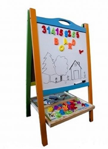 Elk & Bear Double Sided Magnetic Whiteboard Painting Easel for Small Kids and Toddler