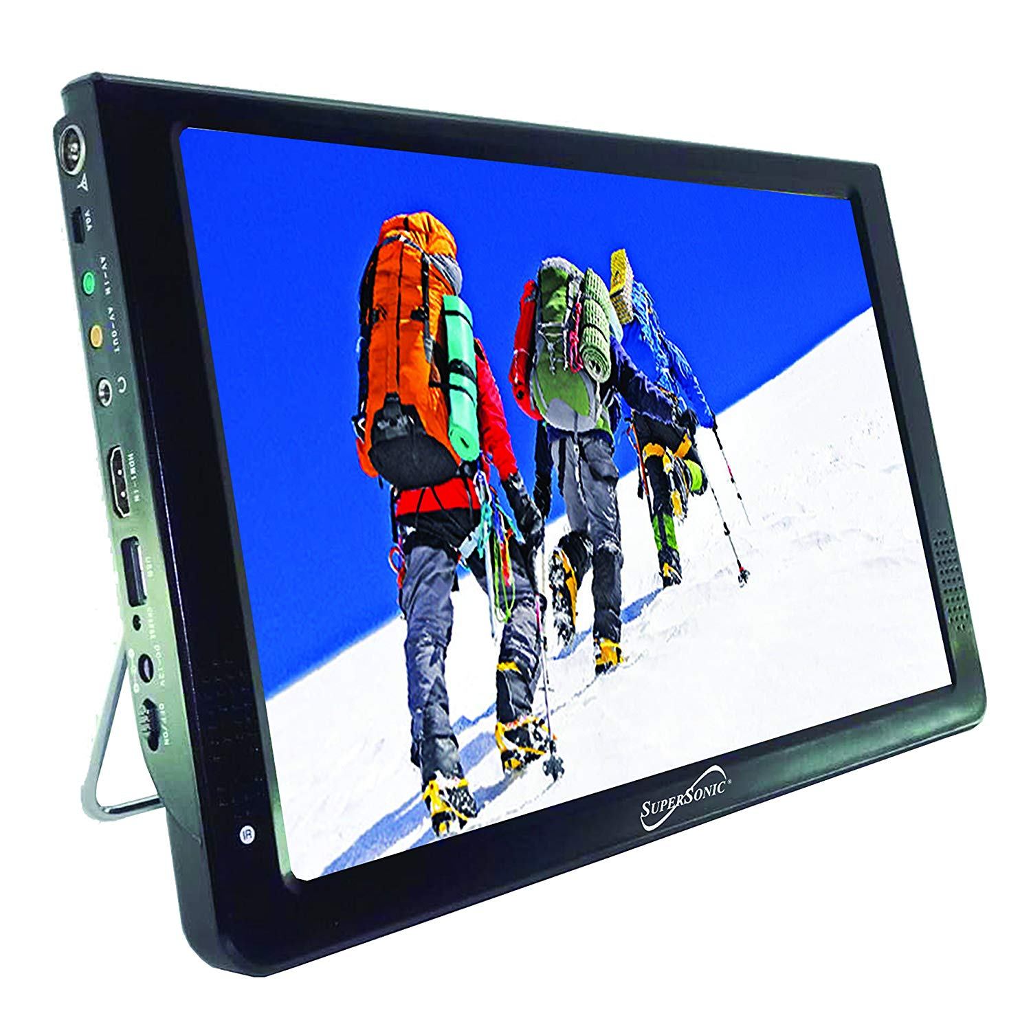 SuperSonic Portable Widescreen LCD Display with Digital TV Tuner, USB/SD Inputs and AC/DC Compatible for RVs, 7-Inch (12-inch)