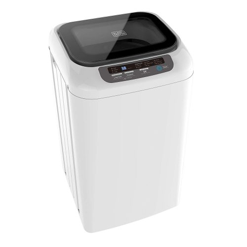 BLACK+DECKER 0.84 Cubic Feet Portable Washer - Mini Washing Machine for Apartments, Small Houses, Dorm Room - Laundry Appliances with Timer, LED Display, Automatic Shutoff, 8 Cycle Selection
