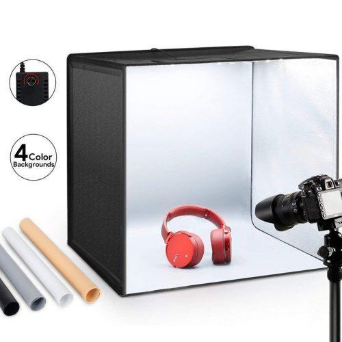 "ESDDI Photo Studio Light Box 20""/50cm Adjustable Brightness"