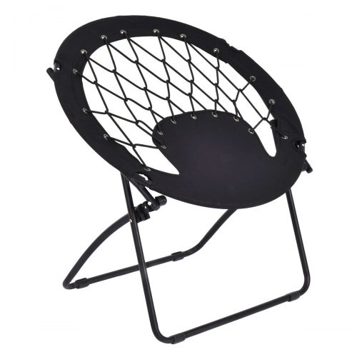 Costway Netted Folding Round Bungee Chair Steel Frame