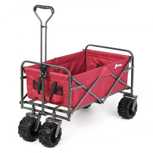 Sekey Folding Wagon Cart Collapsible Outdoor Utility Wagon Garden