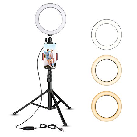 "8"" Selfie Ring Light with a Tripod Stand (Upgraded)"