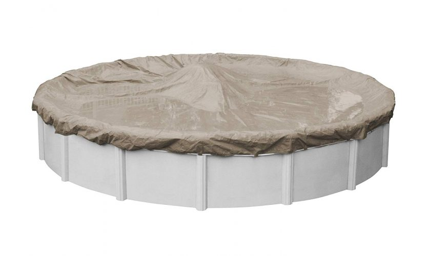 Pool Mate 5724-4 Sandstone Winter Pool Cover for Round Above Ground Swimming Pools, 24-ft. Round Pool