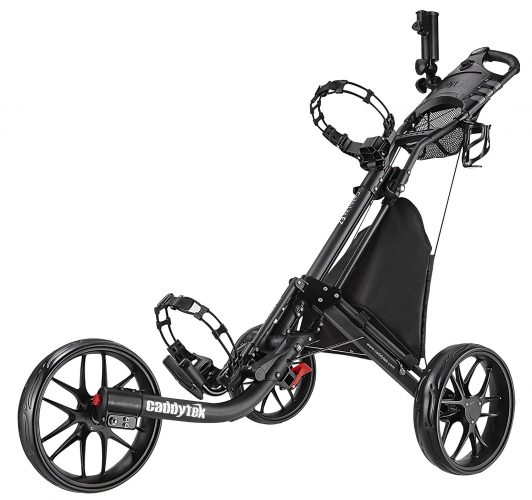 CaddyTek EZ-Fold 3 Wheel Golf Push Cart
