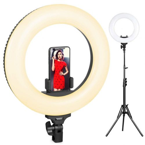 Ring Light, ESDDI Outer Adjustable Color Temperature with Stand