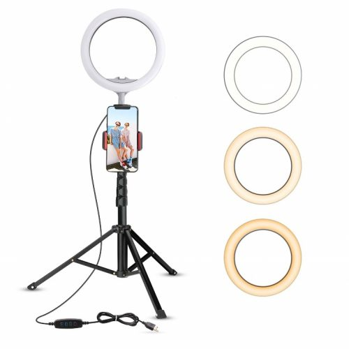 "10.2"" Selfie Ring Light with the Tripod Stand (Upgraded)"