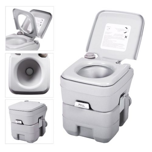 JAXPETY 20L Flush Porta Outdoor Indoor Travel Portable Toilet for Car