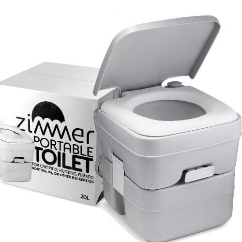 Portable Toilet Camping Potty - Durable, Leak-Proof, Easy to use Toilet With Detachable Tanks for Cleaning & Carrying