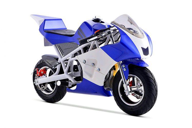 Pocket Bike Mini Motorcycle 4 Stroke Gas Power (Blue)