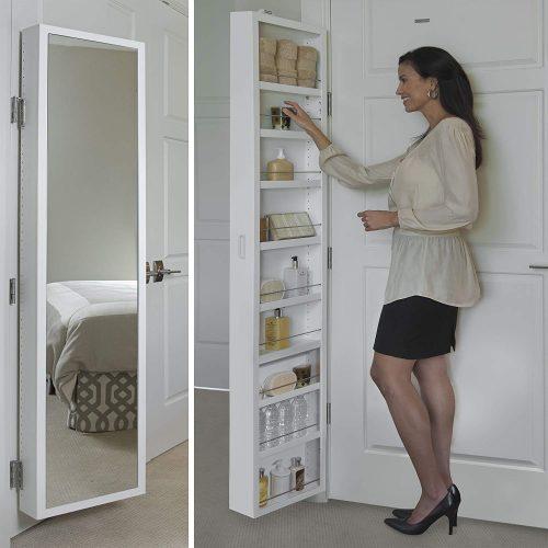 Cabidor Mirrored Storage Cabinet (CAB00405), White