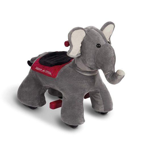 Radio Flyer Peanut Electric Ride-On Elephant with Sounds, Grey (Amazon Exclusive)