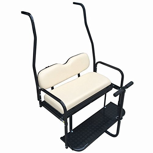Performance Plus Carts Club Car DS Golf Cart Rear Flip Back Seat Kit for 2000.5 - Up Factory Buff