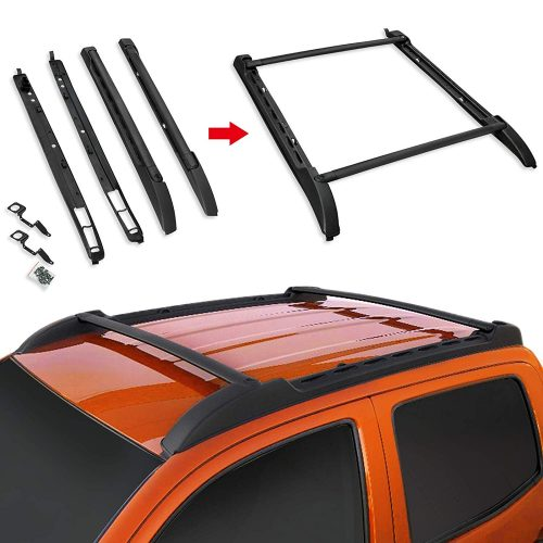 VZ4X4 Roof Rack Set Fit Toyota Tacoma 2005-2018 Double Cab Crew Cab Luggage Carrier Black