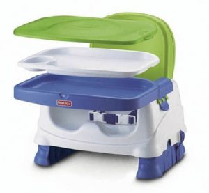 Fisher-Price Healthy Care Booster Seat, Blue/Green [Amazon Exclusive]