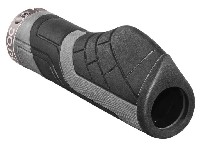 Entrac Comfort Lock-on Bike Handlebar Grips - Ergo Rubber Cycling Bicycle Grips - Ergonomic Shape and Vibration/Shock Absorbent TPR Minimizes Fatigue Numbness and Hurt