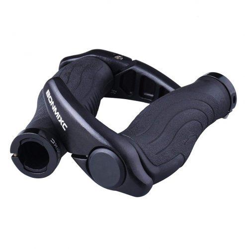 BONMIXC Ergonomic Design Mountain Bike Grips, Aluminum Alloy Locking Ring Bicycle Grips for MTB BMX Folding Bike