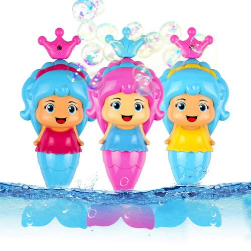 Conquer Baby - (3 Pack) Bath Toys for Toddlers Kids Girls - Mermaid Princess Wind Up Tail Flap Floating Water BathTub Toys, Swimming Pool Beach Bathing Time Fun - Random Colors