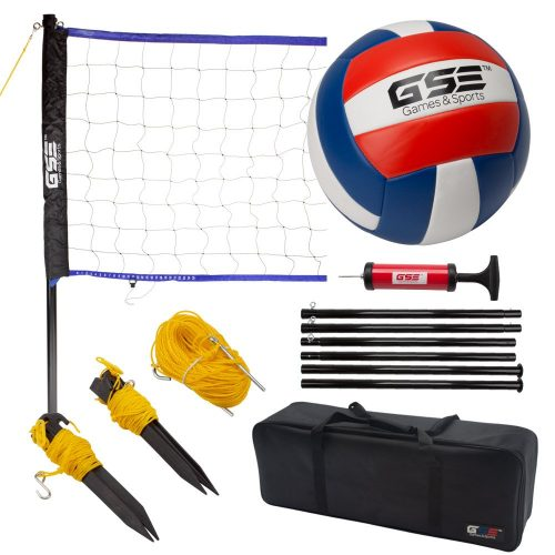 GSE Games & Sports Expert Portable Badminton Volleyball Set. Including Volleyball/Badminton Net System and Accessories.