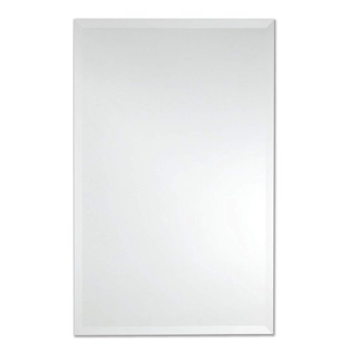 Frameless Rectangle Wall Mirror | Bathroom, Vanity, Bedroom Rectangular Mirror | 30-inch x 40-inch (Large)
