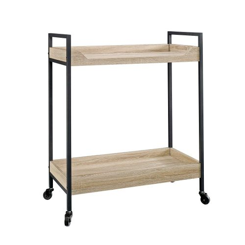 "Sauder 420043 North Avenue Cart, L: 32.76"" x W: 17.28"" x H: 36.02"", Charter Oak finish"
