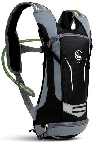 U`Be Hydration Pack Water Backpack - Kids Women Men Camelback - Hiking Biking Running Bag with 2L Bladder