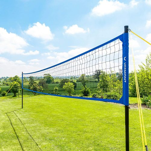 Vermont Portable Volleyball Set - Aluminum Telescopic Posts - Carry Bag Included