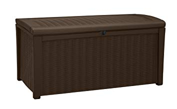 Keter 211359 Borneo 110 Gal. Plastic Outdoor Patio Storage Container Deck Box & Gar
