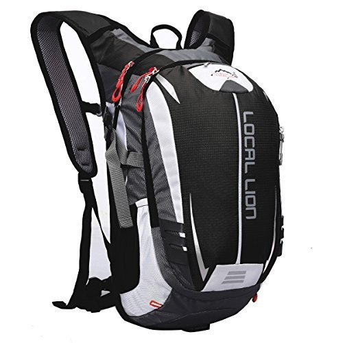 LOCALLION Cycling Backpack Riding Backpack Bike Rucksack Outdoor Sports Daypack for Running Hiking Camping Travelling Ultralight Men Women 18L Black