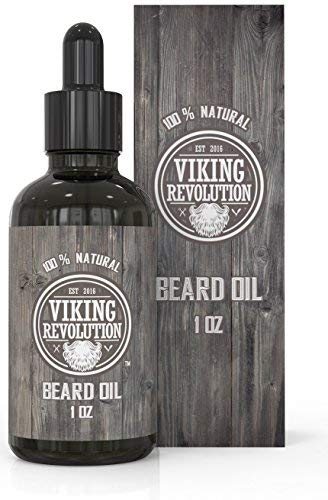 Viking Revolution Beard Oil Conditioner - All Natural Unscented Organic Argan & Jojoba Oils – Softens, Smooths & Strengthens Beard Growth – Grooming Beard and...