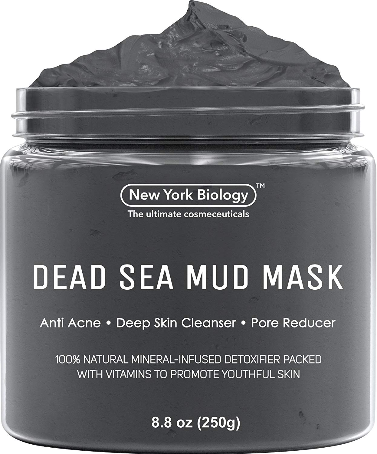 Dead Sea Mud Mask for Face & Body - 100% Natural Spa Quality - Best Pore Reducer & Minimizer to Help Treat Acne , Blackheads & Oily Skin – Tightens Skin for a...