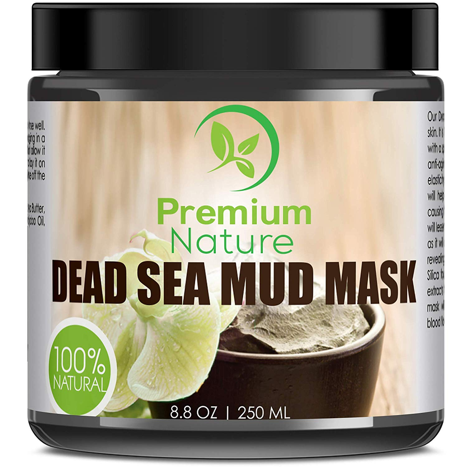 Dead Sea Mud Mask for Face and Body - 8.8 oz Melts Cellulite Treats Acne Strech Mark Removal - Deep Detox Cleaning Mask Pore Minimizer and Wrinkle Reducer - Natural...