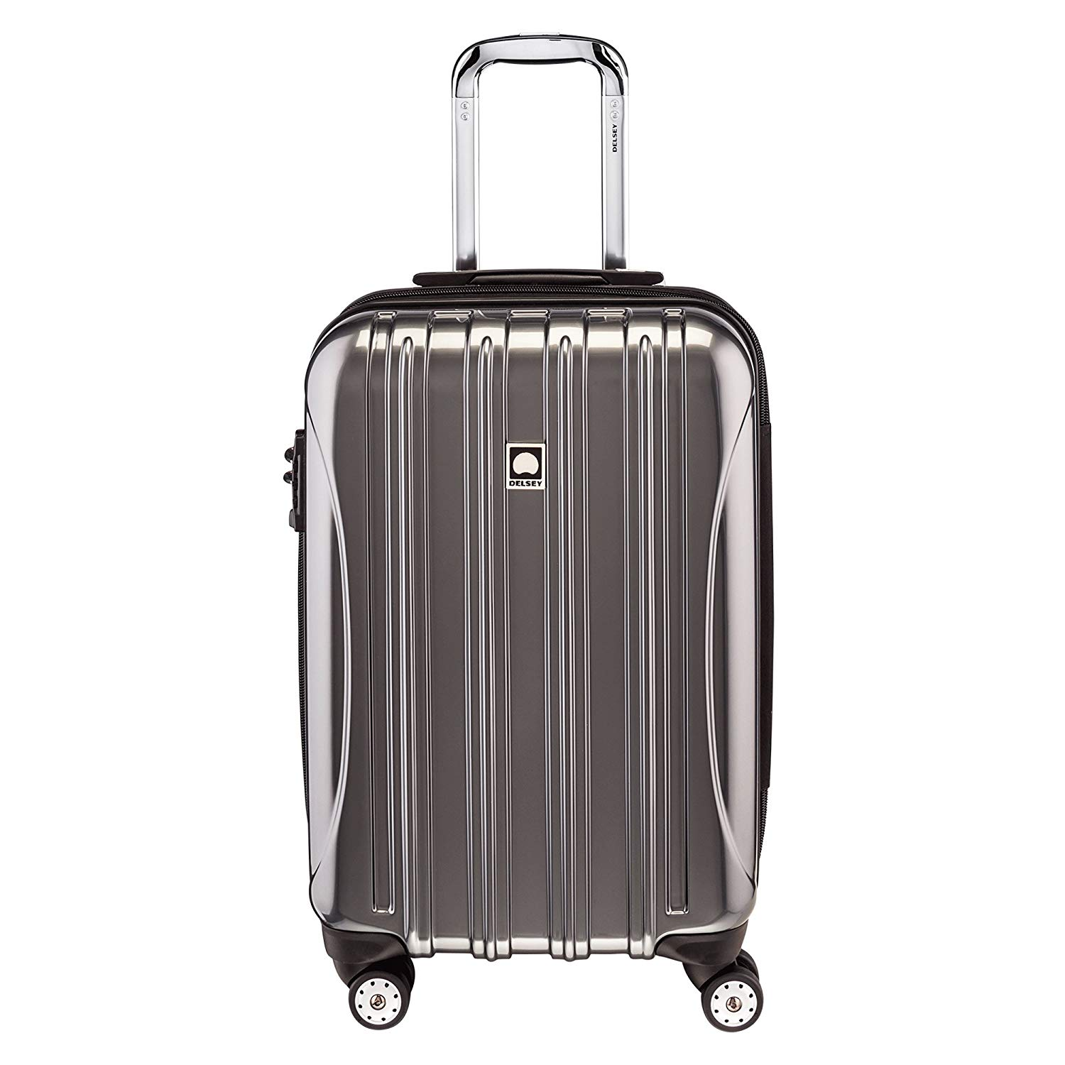 "DELSEY Paris Luggage Helium Aero 21"" Carry-On Expandable Spinner Trolley, Titanium"