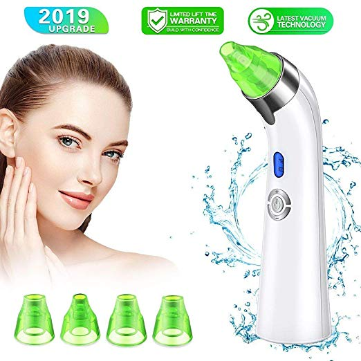 Blackhead Remover Pore Vacuum, Electric Skin Pore Cleaner Blackhead Vacuum Suction Removal Rechargeable Skin Peeling Machine Comedone Acne Comedo Beauty Device For Nose Face Women Man