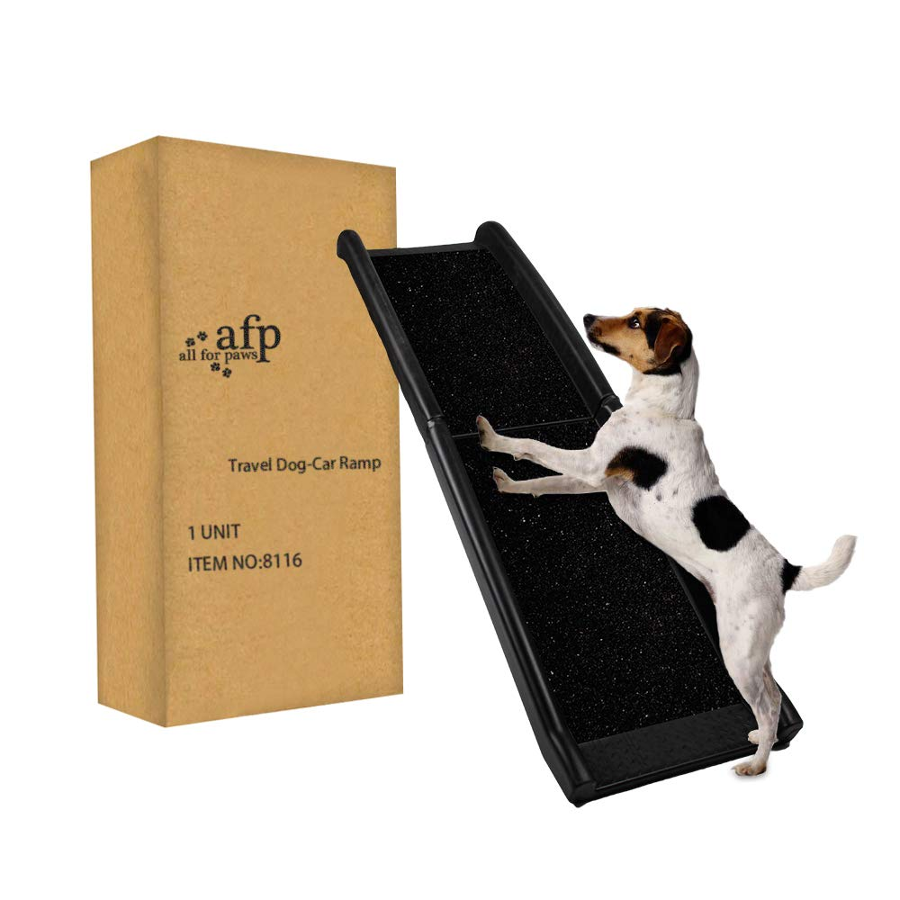 "ALL FOR PAWS Pet Ramp Dog and Cat Ramp Lightweight Portable, Long 62"" x Wight Capacity 200 lbs"