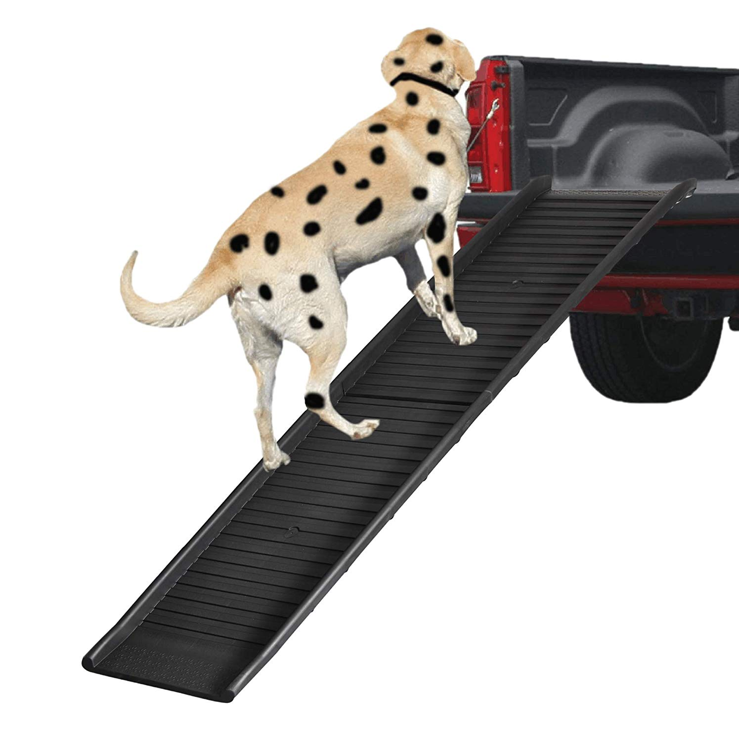 REDWOLF Dog Pet Sturdy Stable Car Ramp for 180lb Large Small Old Ill Dog Heavy Duty Indoor Outdoor Foldable Bridge Ramps Textured Surface Fit Truck SUV Pickup Vehicle