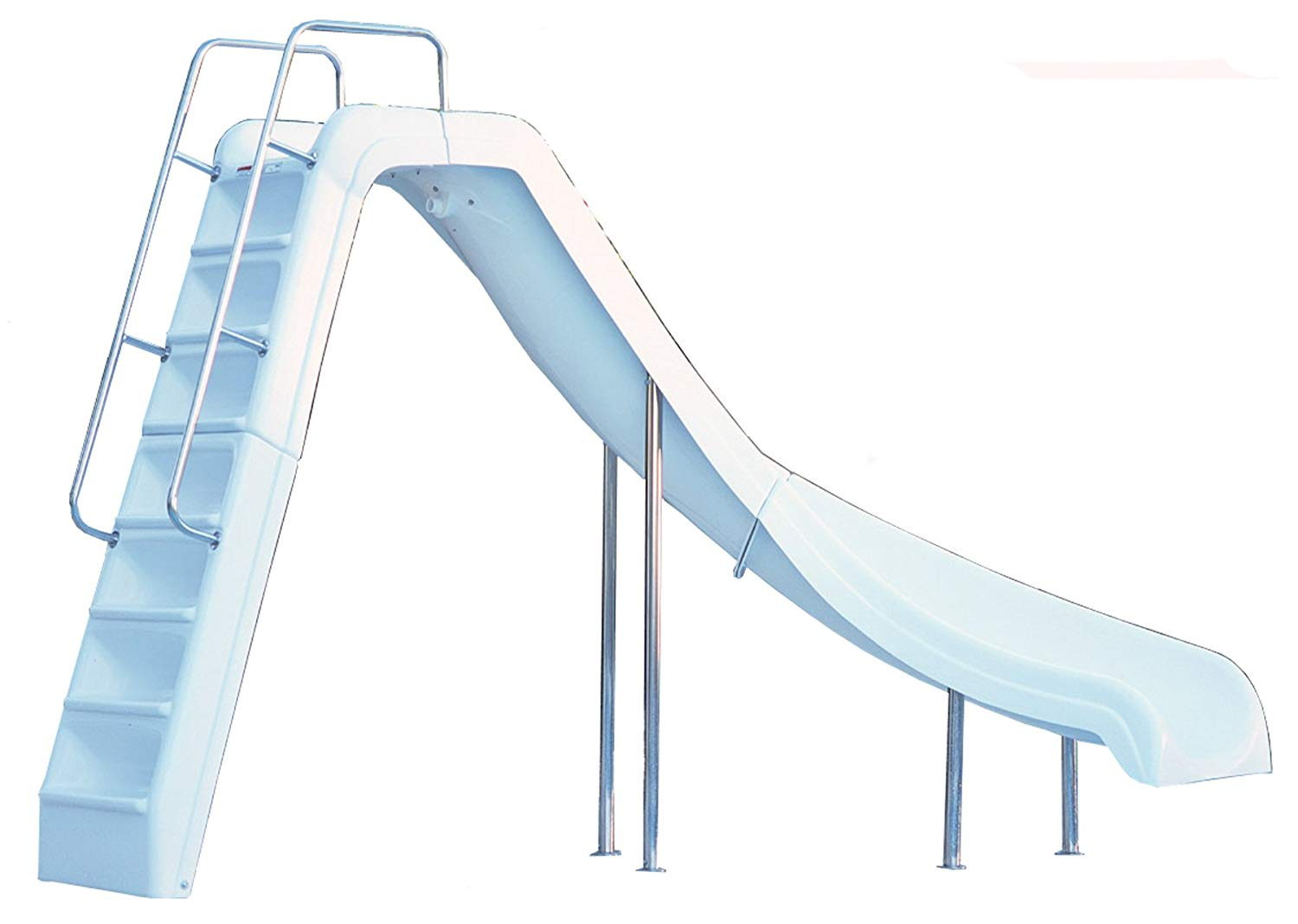 Inter-Fab WRS-CR-SS Water Pool Slide, Wild Ride, White