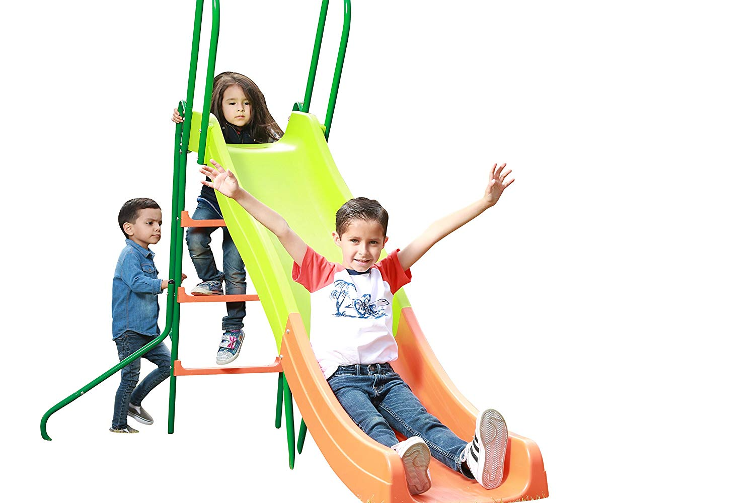SLIDEWHIZZER Kids Play Outdoor Playground Slide; 8-FT Freestanding Playset