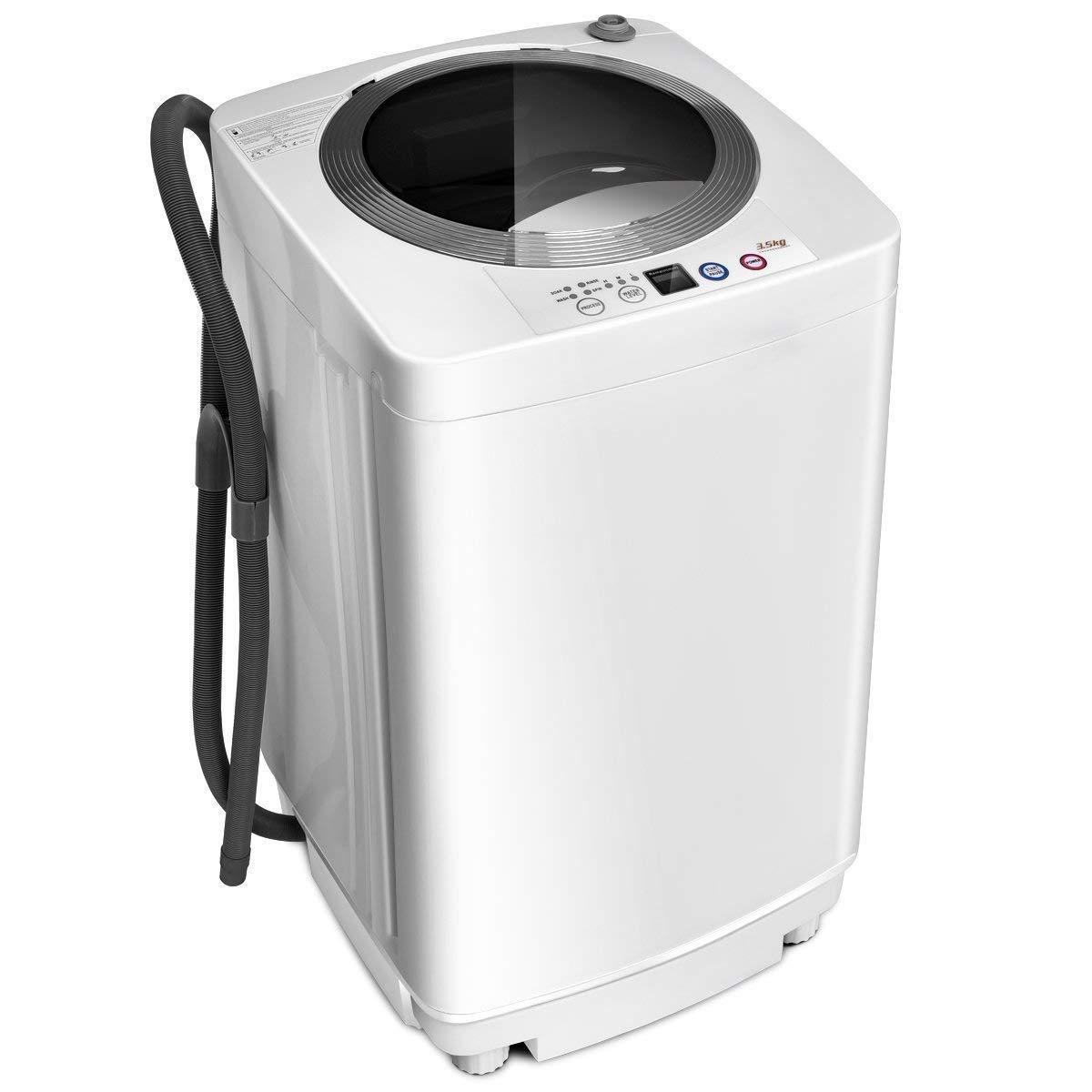 Giantex Portable Compact Full-Automatic Laundry 8 Lbs Load Capacity Washing Machine