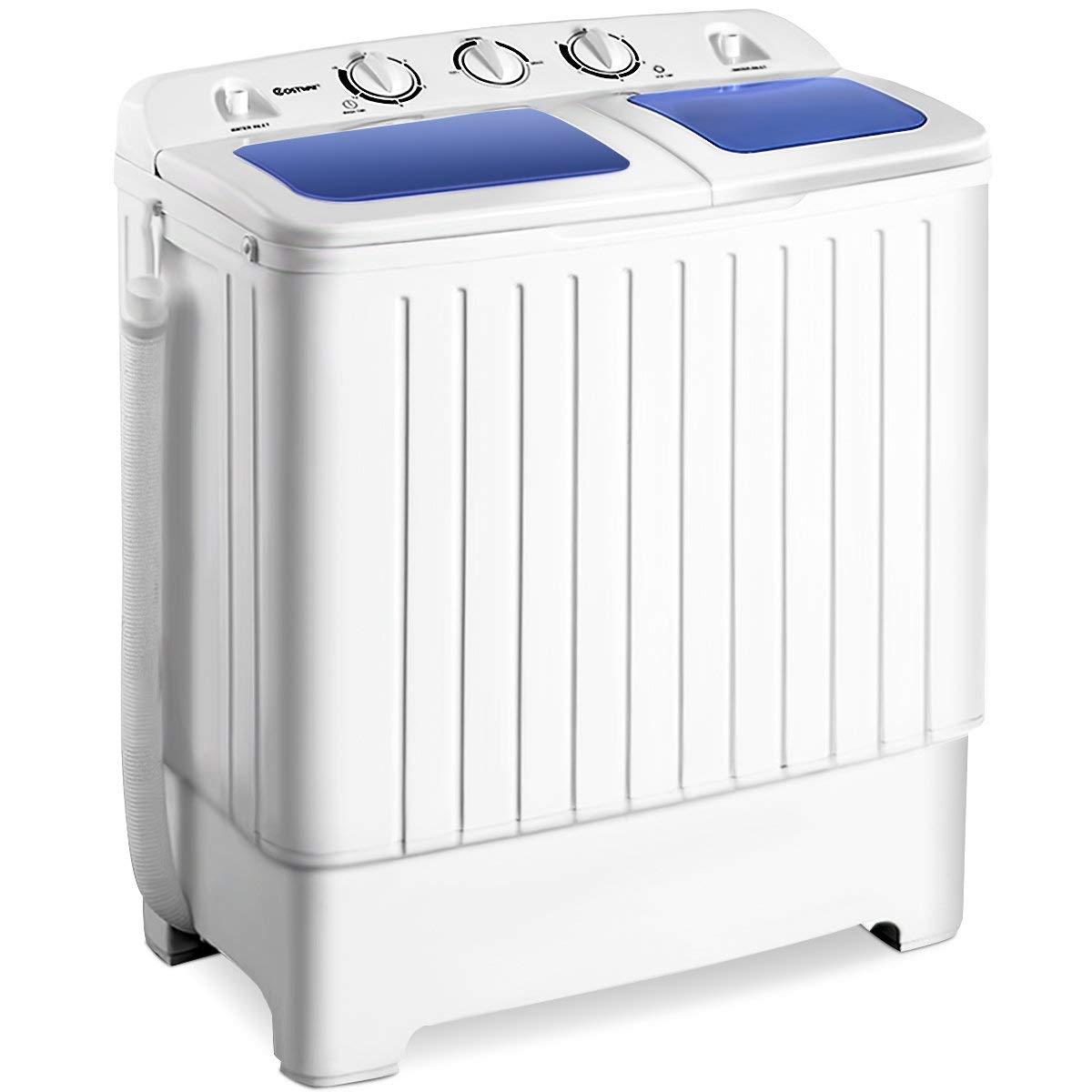 Giantex Portable Mini Compact Twin Tub Washing Machine 17.6lbs Washer Spain Spinner