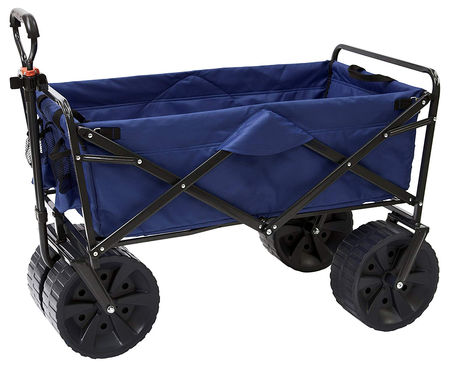 Mac Sports Heavy Duty Collapsible Folding All Terrain Utility Beach Wagon Cart  - beach trolley