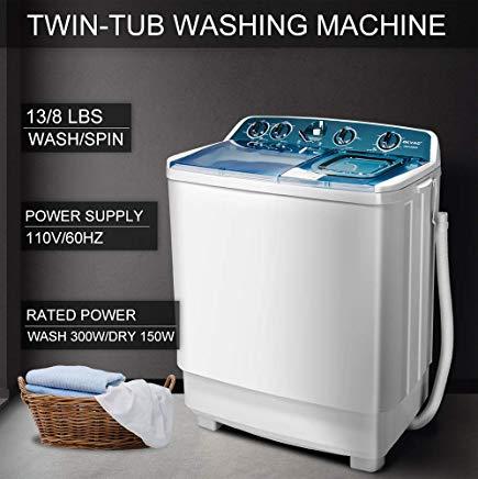 OKVAC Portable Washing Machine Twin Tub, 21lbs Load Capacity - cheap washing machines