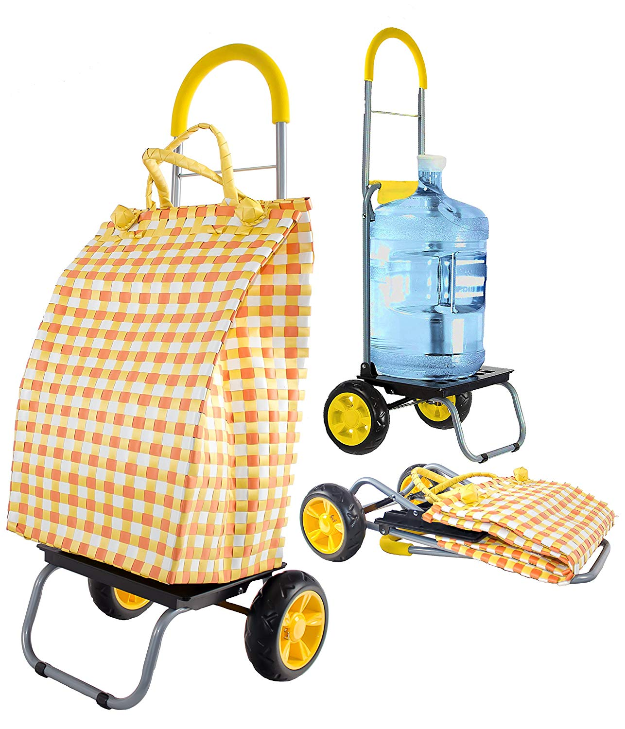 dbest products Trolley Dolly Basket Weave Tote