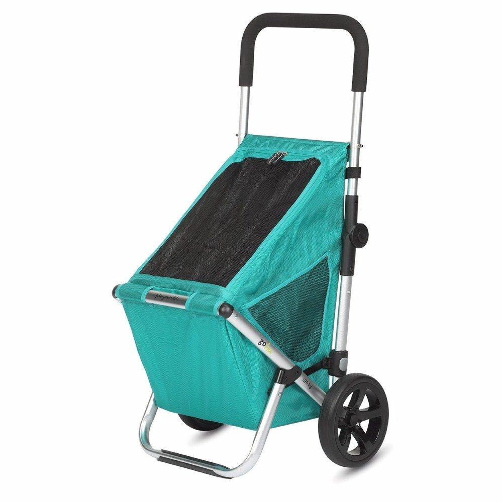 Playmarket GO FUN Folding Shopping Cart with Wheels, Green