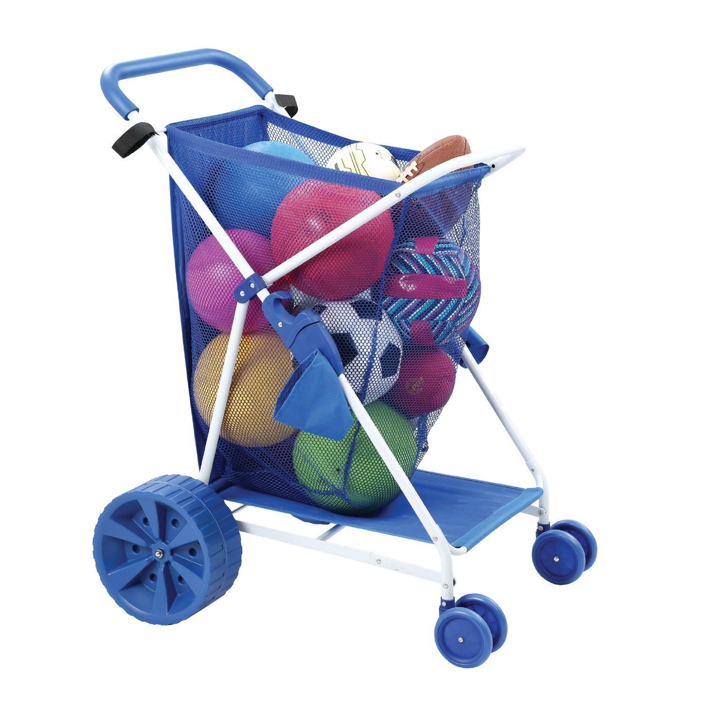 Folding Multi-Purpose Deluxe Beach Cart With Wide Terrain Wheels
