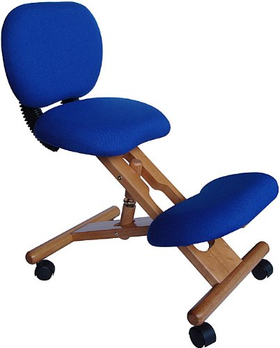 Flash Furniture Mobile Wooden Ergonomic Kneeling Posture Chair
